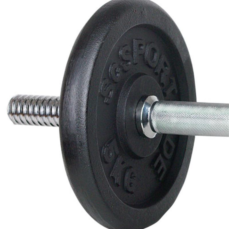 15 kg Hantelset, Kurzhantel, 2 x 1,25 kg, 2 x 5 kg Guss