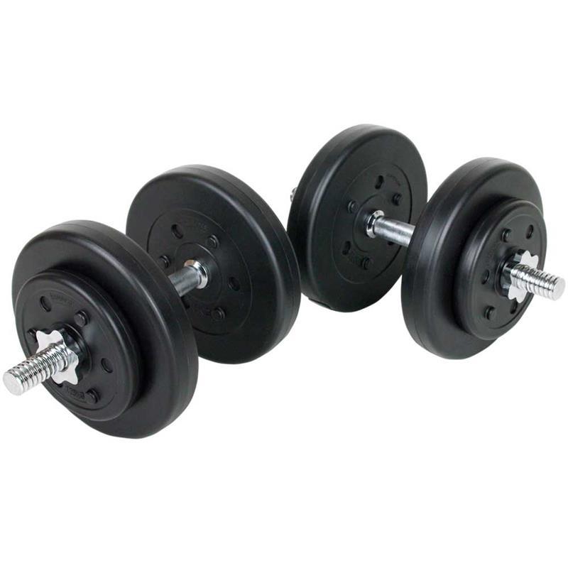 30 kg Kurzhantelset Kunststoff mit 4 x 5 kg / 4 x 1,25 kg Scheiben