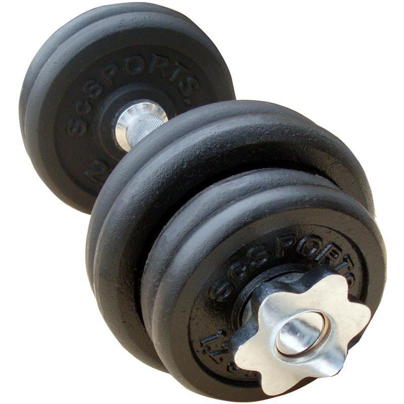 15 kg Hantelset, Kurzhantel, 4 x 1,25 kg, 4 x 2,5 kg Gusseisen